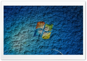 Windows Logo on Wall HD Wide Wallpaper for Widescreen