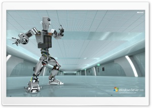 Windows Server 2008 Unleashed IT 24-7 Robot HD Wide Wallpaper for 4K UHD Widescreen desktop & smartphone