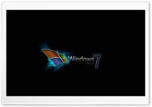 Windows Seven Black HD Wide Wallpaper for Widescreen