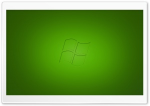 Windows Vista Green HD Wide Wallpaper for Widescreen