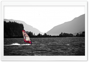 Windsurfing In The Columbia River Gorge HD Wide Wallpaper for 4K UHD Widescreen desktop & smartphone