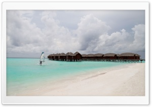 Windsurfing, Maldives HD Wide Wallpaper for Widescreen