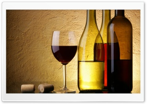 Wine Bottles And Glasses HD Wide Wallpaper for Widescreen