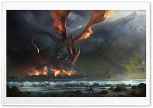 Wings Dragon Fire HD Wide Wallpaper for Widescreen