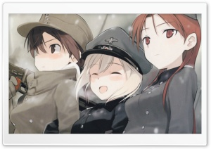 Winter Anime HD Wide Wallpaper for Widescreen