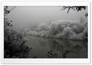 Winter At The River HD Wide Wallpaper for Widescreen