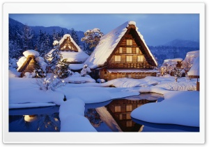 Winter Chalet HD Wide Wallpaper for Widescreen