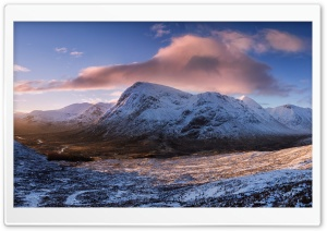 Winter Dawn, Glencoe, Scotland HD Wide Wallpaper for 4K UHD Widescreen desktop & smartphone