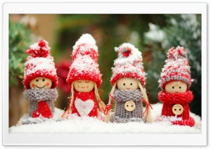 Winter Dolls HD Wide Wallpaper for Widescreen