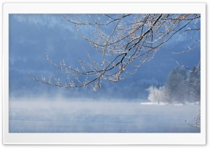 Winter Fog, Lake HD Wide Wallpaper for 4K UHD Widescreen desktop & smartphone