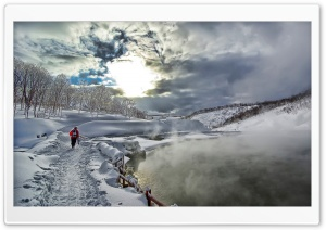 Winter Hike HD Wide Wallpaper for Widescreen
