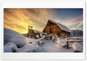 Winter home HD Wide Wallpaper for Widescreen