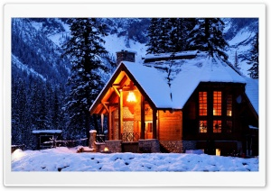 Winter House HD Wide Wallpaper for Widescreen