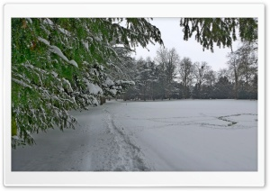 Winter im Schlosspark-Paffendorf HD Wide Wallpaper for Widescreen