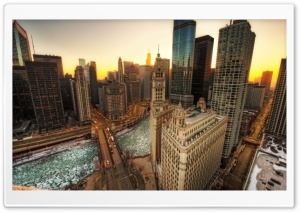 Winter In Chicago HD Wide Wallpaper for Widescreen