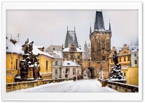 Winter In Prague HD Wide Wallpaper for 4K UHD Widescreen desktop & smartphone