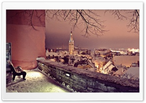 Winter in Tallinn HD Wide Wallpaper for Widescreen