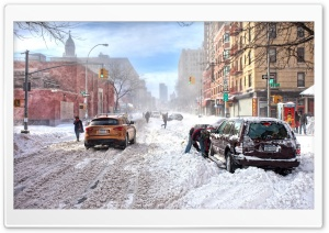 Winter In The City HD Wide Wallpaper for Widescreen
