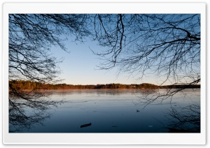 Winter Lake HD Wide Wallpaper for Widescreen