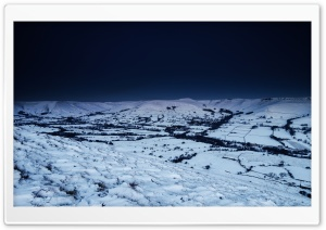 Winter Landscape, Night Ultra HD Wallpaper for 4K UHD Widescreen desktop, tablet & smartphone