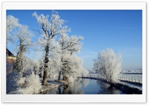 Winter Landscape, Utrecht, Netherlands HD Wide Wallpaper for Widescreen