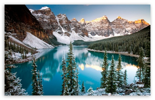 Winter, Moraine Lake, Alberta, Canada HD wallpaper for Wide 16:10 5:3 Widescreen WHXGA WQXGA WUXGA WXGA WGA ; HD 16:9 High Definition WQHD QWXGA 1080p 900p 720p QHD nHD ; Standard 4:3 5:4 3:2 Fullscreen UXGA XGA SVGA QSXGA SXGA DVGA HVGA HQVGA devices ( Apple PowerBook G4 iPhone 4 3G 3GS iPod Touch ) ; Tablet 1:1 ; iPad 1/2/Mini ; Mobile 4:3 5:3 3:2 16:9 5:4 - UXGA XGA SVGA WGA DVGA HVGA HQVGA devices ( Apple PowerBook G4 iPhone 4 3G 3GS iPod Touch ) WQHD QWXGA 1080p 900p 720p QHD nHD QSXGA SXGA ;