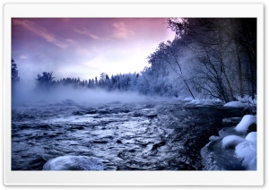 Winter Mountain Creek HD Wide Wallpaper for Widescreen