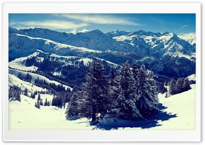 Winter Mountain Landscape HD Wide Wallpaper for Widescreen