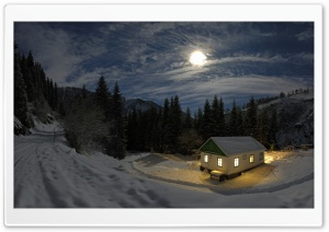 Winter Night HD Wide Wallpaper for Widescreen
