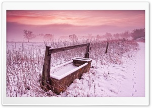 Winter Over The Fields HD Wide Wallpaper for Widescreen