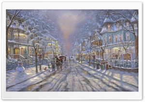 Winter Painting by Robert Finale HD Wide Wallpaper for Widescreen