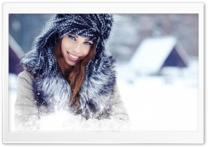 Winter Portrait HD Wide Wallpaper for 4K UHD Widescreen desktop & smartphone
