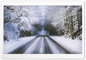 Winter Road HD Wide Wallpaper for Widescreen