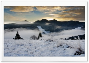 Winter Scenery At Dawn HD Wide Wallpaper for 4K UHD Widescreen desktop & smartphone