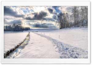 Winter Scenery, HDR HD Wide Wallpaper for Widescreen