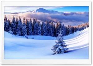 Winter Season, Mountains HD Wide Wallpaper for Widescreen