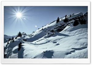 Winter Slope HD Wide Wallpaper for Widescreen