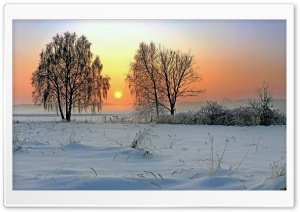 Winter Sunrise HD Wide Wallpaper for 4K UHD Widescreen desktop & smartphone