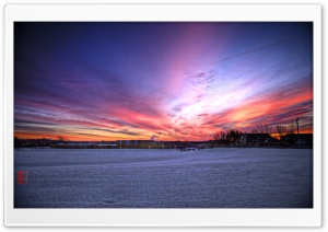 Winter Sunrise HD Wide Wallpaper for Widescreen
