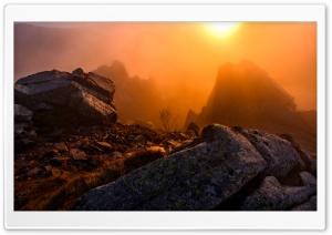 Winter Sunrise Mountain Mist HD Wide Wallpaper for 4K UHD Widescreen desktop & smartphone