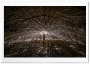 Wire Wool Spinning Photography Ultra HD Wallpaper for 4K UHD Widescreen desktop, tablet & smartphone