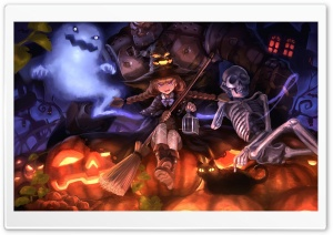 Witch Girl HD Wide Wallpaper for Widescreen