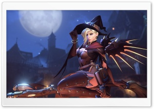 Witch Mercy HD Wide Wallpaper for 4K UHD Widescreen desktop & smartphone