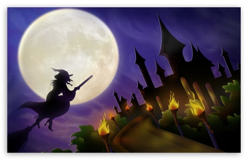 Witch On Broom Full Moon Hallowmas Halloween ❤ 4K UHD Wallpaper for Wide 16:10 5:3 Widescreen WHXGA WQXGA WUXGA WXGA WGA ; 4K UHD 16:9 Ultra High Definition 2160p 1440p 1080p 900p 720p ; Standard 3:2 Fullscreen DVGA HVGA HQVGA ( Apple PowerBook G4 iPhone 4 3G 3GS iPod Touch ) ; Tablet 1:1 ; Mobile 5:3 3:2 16:9 - WGA DVGA HVGA HQVGA ( Apple PowerBook G4 iPhone 4 3G 3GS iPod Touch ) 2160p 1440p 1080p 900p 720p ;