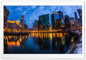 Wolf Point Chicago City Lights Ultra HD Wallpaper for 4K UHD Widescreen desktop, tablet & smartphone