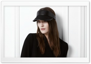 Woman - Black Leather Sun Visor Hat HD Wide Wallpaper for 4K UHD Widescreen desktop & smartphone