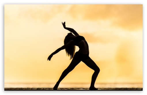 Download Woman Dancing Silhouette Contemporary HD Wallpaper