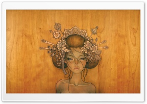 Woman Drawing by Audrey Kawasaki HD Wide Wallpaper for Widescreen