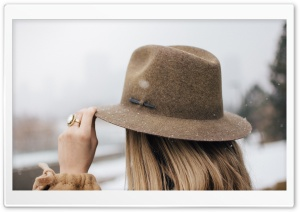 Woman Hat Street Style Fashion HD Wide Wallpaper for 4K UHD Widescreen desktop & smartphone