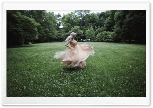 Woman in Dress Spinning Around Ultra HD Wallpaper for 4K UHD Widescreen desktop, tablet & smartphone